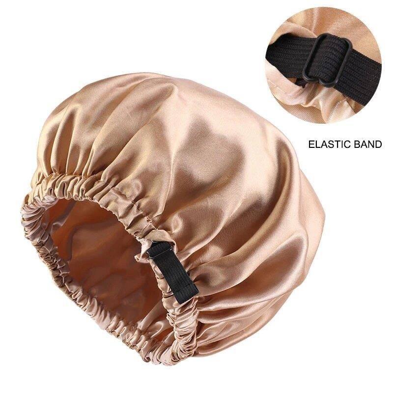 Bonnet Cap Gorro De Satin Dorado